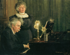Edward Grieg with his wife Nancy